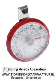 033541098 - Thermometer -30 tot +50°C grootte ø52mm beeldscherm analoog