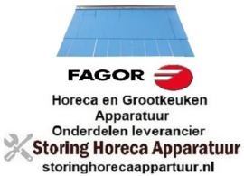 124533015 - Gordijn B 620mm H 410mm materiaaldikte 1,6mm spoeltechniek FAGOR
