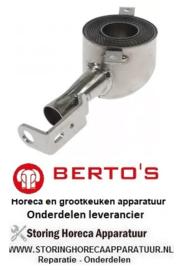 11732279200 - Pijpbrander inbouwpositie rechts rond voor gas friteuse  BERTO'S GL10+10M