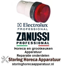 285359128 - Signaallampfitting inbouwmaat ø13mm rood Electrolux, Zanussi