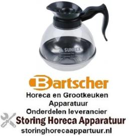 153960004 - Koffiepot 1,8l kunststof - staal voor koffiemachine BARTSHER
