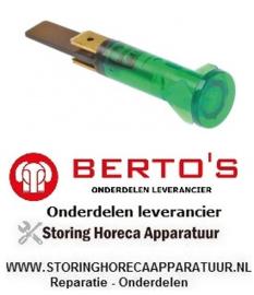 13930168800 - Signaallamp groen elektrische bakplaat  BERTOS E6FL3B-P