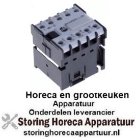 243380871 - Relais AC1 16A 230VAC (AC3/400V) 6,1A/2,2kW hoofdcontact 3NO hulpcontact 1NO