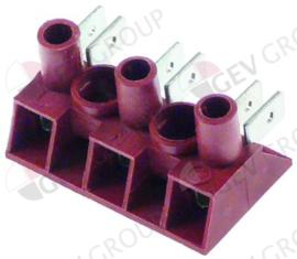 A16013 - Elektra aansluitingsklem 3-polig max. 25A max. spanning 450V aansluiting ø2,5mm² / F6,3
