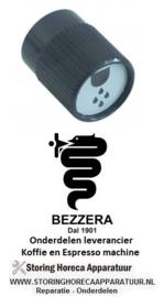 2841.111.21 - Knop water ø 38mm as ø 7x7mm afvlakking vierkant zwart BEZZERA