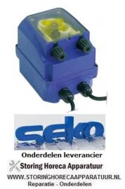 1353.611.60 - Doseerpomp SEKO met 2 tijdsturingen 6l/h 230 VAC wasmiddel slang ø 4x6mm slangtype K