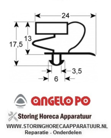 026900353 - Koeldeurrubber B 242mm L 367mm steekmaat schuiflade grootte 1/2  ANGELO-PO