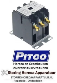 233381321 - Relais AC1 40A 120VAC 30A/10HP (AC3/240V) 30A/7,46kW hoofdcontact 3NO PITCO