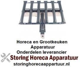 589105955 -Staafbrander 6-rijen L 500mm - B 435mm - H 90mm lavasteengrill
