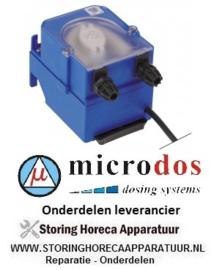 6403.616.18 - Doseerapparaat MICRODOS frequentieregeling 3l/h 230 VAC wasmiddel slang ø 4x6mm slang Santoprene