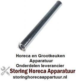 461105543 - Staafbrander 1-rij ø 40mm - L 420mm flens B 43mm flens L 43mm Bain-Marie