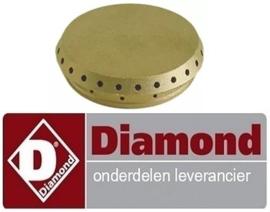 578160295 - Branderdeksel ø 50mm inbouwpositie binnenkant 1kW voor gasfornuis DIAMOND