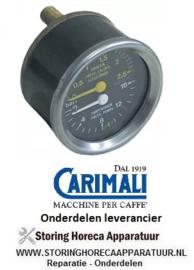 182541223 - Manometer dubbele schaal ø 60mm drukbereik 0-2,5 / 0-16bar aansluiting keerzijde CARIMALI