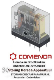 103380335 - Printrelais 230V spanning AC 1CO bij 250V 16A aansluiting pinnen roostermaat 5mm Italiana Relè COMENDA
