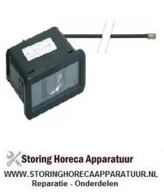 067541086 -Thermometer inbouwmaat 58x25,5mm 0 tot +120°C pijp ø 2000mm voeler ø 6mm voeler L 23mm