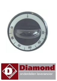 328110685 - Knop thermostaat  50-300°C zwart Diamond E65 line