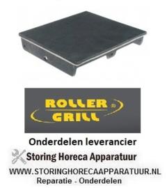 2126.933.64 - Gietijzerplaat inbouwpositie boven glad ROLLER GRILL