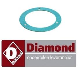 444RTCU700399 - Pakking D1 ø 110mm D2 ø 80mm materiaaldikte 1,6mm Diamond G77/2F4T-N