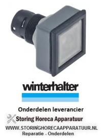 2243.606.12 - Tastelement type drukkend inbouw ø 16,2mm antraciet - transparant vierkant - Winterhalter
