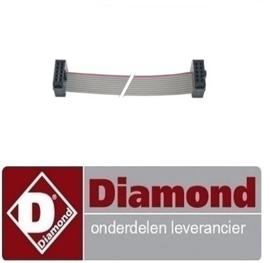 018211013 - vlakbandkabel 10-polig L 2300mm DIAMOND DFE 6/6 AC