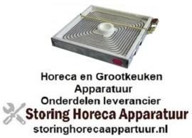 VE144490008 - Keramische kookplaat L 300mm B 300mm 4000 Watt - 400 Volt
