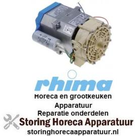 258499095 - Naspoelpomp ingang ø 15mm uitgang ø 14mm type T.33PRS 230V 50Hz fasen 1 0,25kW voor vaatwasser RHIMA