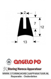 025900448 - Oven deurrubber  glaspakking profiel 1630 L 1800mm ANGELO-PO