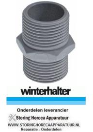 9698.00021.67 - Dubbelnippel vaatwasser WINTERHALTER GSR36 - GSR36E