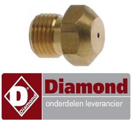 626RTCU900246 - Gasinspuiter 6KW voor propaangas fornuis DIAMOND C6GA11-SP