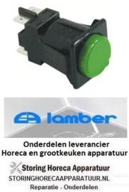 4900301101 - Drukschakelaar tastend rond groen 2NO 250V 16A voor vaatwasser LAMBER