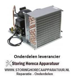 312605224 - Koelaggregaat HBP type UCHZ 25 A koelmiddel R134a EMT6170Z 1/4HP cilinderinhoud 7,69cm³ 220-240V 1