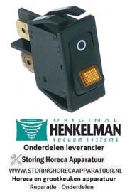 850347039 - Wipschakelaar inbouwmaat 27,4x12,4mm zwart/oranje 2NO 250V 16A verlicht O HENKELMAN