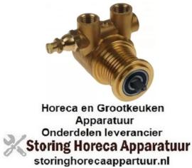 """494500454 - Drukverhogings pompkop PA1504 FLUID-O-TECH L 82mm 150l/h aansluiting 3/8"""" NPT met bypass koper"""