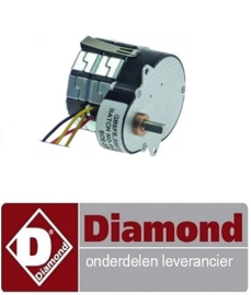 08391310530 - Tandwielmotor MOTEC type 230V 50Hz 500U-min schacht ø 6mm L 46mm B 48mm H 65mm DIAMOND