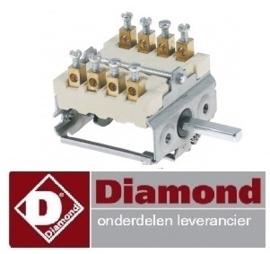 21066103700 - Nokkenschakelaar 4 schakelstanden pastakoker DIAMOND E65/CP4T