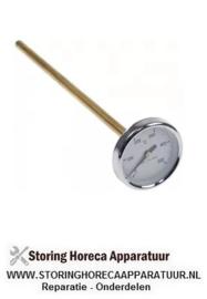 047580135 -Thermometer ø 63,6mm inbouw ø 9mm t.max. 500°C 0 tot +500°C voeler ø 9mm voeler L 300mm