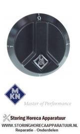 623111778 - Knop schakelaar 0-1-0-1 ø 65mm as ø 6x4,6mm afvlakking boven zwart  MKN