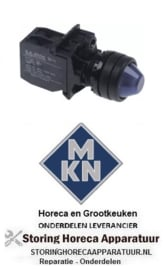 039347524 - Indicatielicht inbouw blauw met gloeilamp 130V voor MKN
