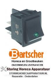 779301062 - Wipschakelaar inbouw groen 250V 16A BARTSCHER