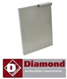 810N60/PGX3 - Linkse deur voor onderstel 300 mm RVS DIAMOND