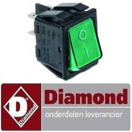 48743201004 - Wipschakelaar verlicht groen DIAMOND