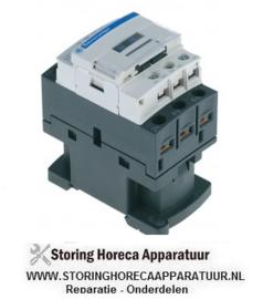 736380820 - Relais AC1 25A 230VAC (AC3/400V) 9A/4kW hoofdcontact 3NO hulpcontact 1NO/1NC