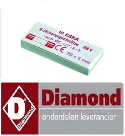 125LC-422 - ZEKERING 2A - ø5x20mm  - 250V-60Hz - 10 STUKS DIAMOND  DFV-423/S