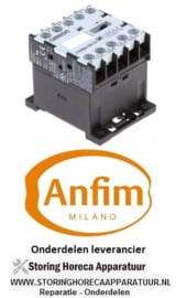 508380883 - Relais AC1 20A 400VAC (AC3-00V) 4kW hoofdcontact 3NO hulpcontact 1NO ANFIM