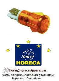 263359042 - Signaallamp ø 12mm geel 230V  HORECA SELECT