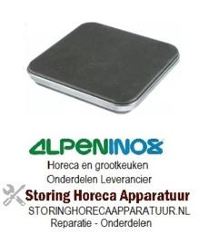 124490066 - Kookplaat 2.600W / 230V 220x220mm met rvs rand ALPENINOX