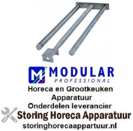 114105158 - Staafbrander 3 rijen L 625mm B 240mm H 45mm grillplaat MODULAR