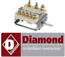 VE025.661.002.00 - Nokkenschakelaar voor fornuis DIAMOND E65/2P4T