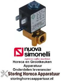 """153370232 - Magneetventiel koper 2-weg 230VAC aansluiting 1/8"""" L 30mm nominale breedte 2,3mm -10 tot +140°C NuovaSimonelli"""