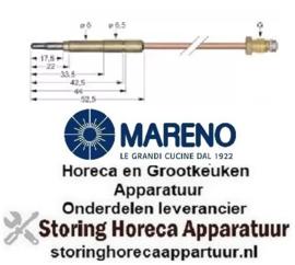 4551.076.06 - Thermokoppel M9x1 L 320mm steekhuls ø6,0(6,5)mm MARENO